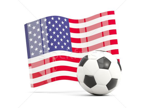 Futbol bayrak Amerika yalıtılmış beyaz Stok fotoğraf © MikhailMishchenko