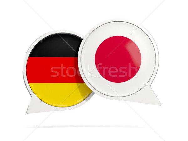 Chat bubbles of Germany and Japan isolated on white Stock photo © MikhailMishchenko