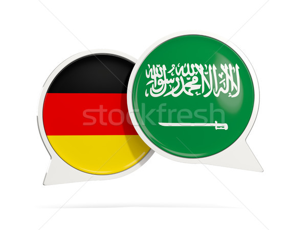 Chat bubbles of Germany and Saudi Arabia isolated on white Stock photo © MikhailMishchenko