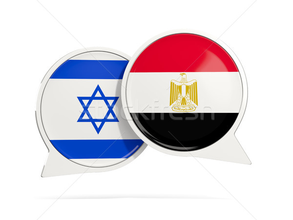 Chat bubbles of Israel and Egypt isolated on white Stock photo © MikhailMishchenko