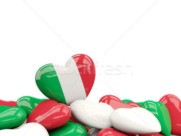 Heart with flag of italy Stock photo © MikhailMishchenko