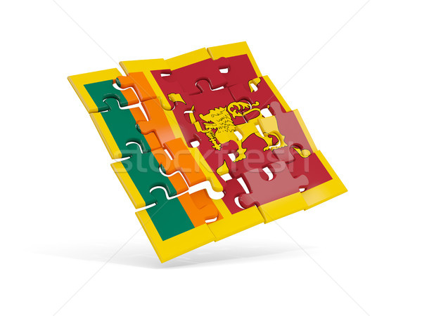 Puzzle flag of sri lanka isolated on white Stock photo © MikhailMishchenko