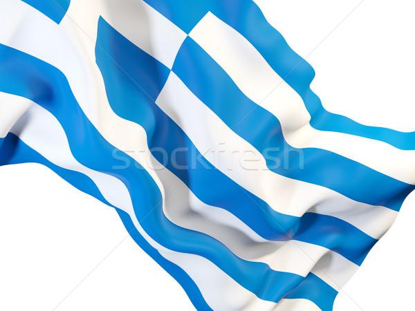 フラグ ギリシャ クローズアップ 3次元の図 ファブリック ストックフォト © MikhailMishchenko