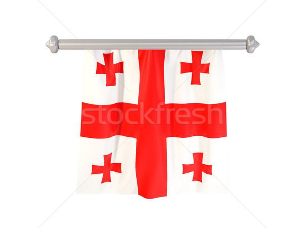 Bandera Georgia aislado blanco 3d etiqueta Foto stock © MikhailMishchenko