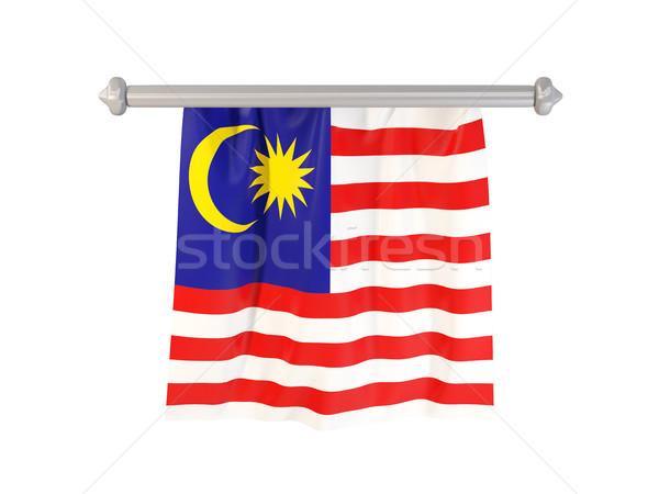 Bandeira Malásia isolado branco ilustração 3d etiqueta Foto stock © MikhailMishchenko