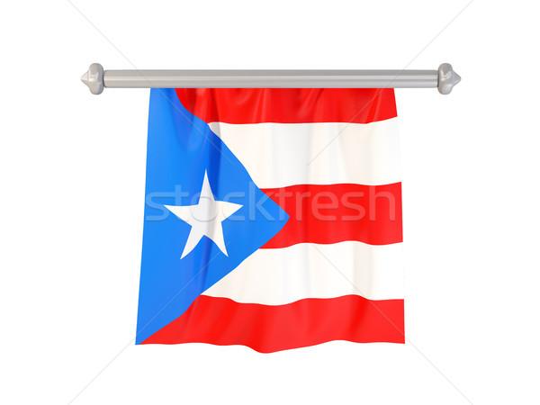 Vlag Puerto Rico geïsoleerd witte 3d illustration label Stockfoto © MikhailMishchenko