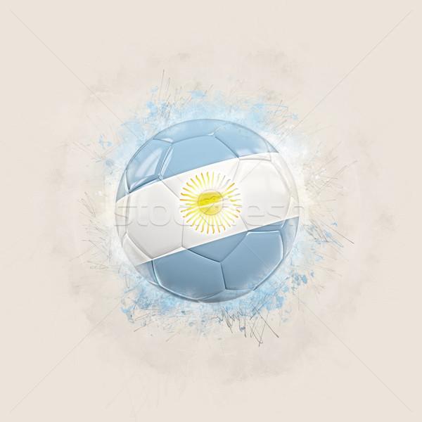 Grunge futebol bandeira Argentina ilustração 3d mundo Foto stock © MikhailMishchenko