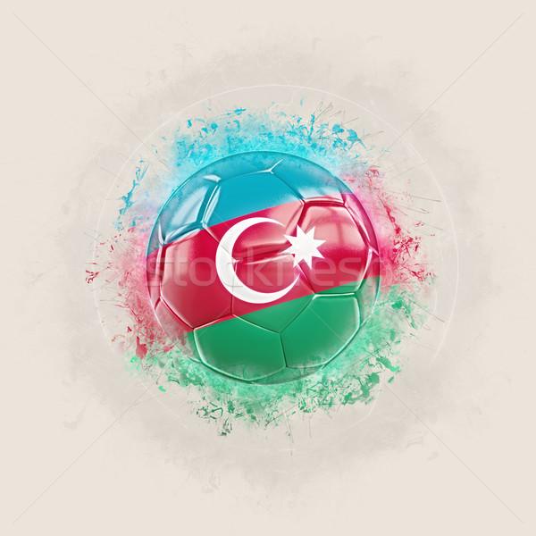 Grunge voetbal vlag Azerbeidzjan 3d illustration wereld Stockfoto © MikhailMishchenko