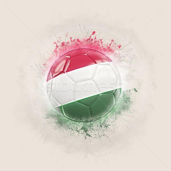 Grunge futbol bayrak Macaristan 3d illustration dünya Stok fotoğraf © MikhailMishchenko