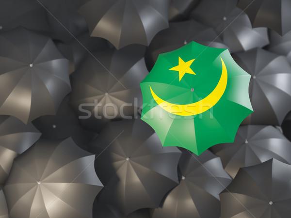 Umbrella with flag of mauritania Stock photo © MikhailMishchenko