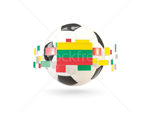 Soccer ball with line of flags. Flag of lithuania Stock photo © MikhailMishchenko
