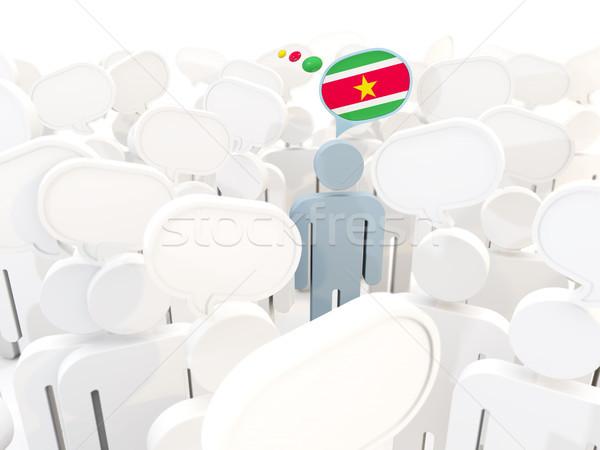 человека флаг Суринам толпа 3d иллюстрации знак Сток-фото © MikhailMishchenko
