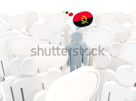 Man with flag of ussr in a crowd Stock photo © MikhailMishchenko