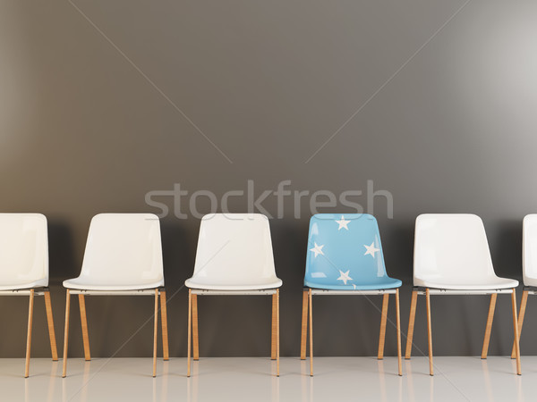 Cadeira bandeira Micronésia branco cadeiras Foto stock © MikhailMishchenko