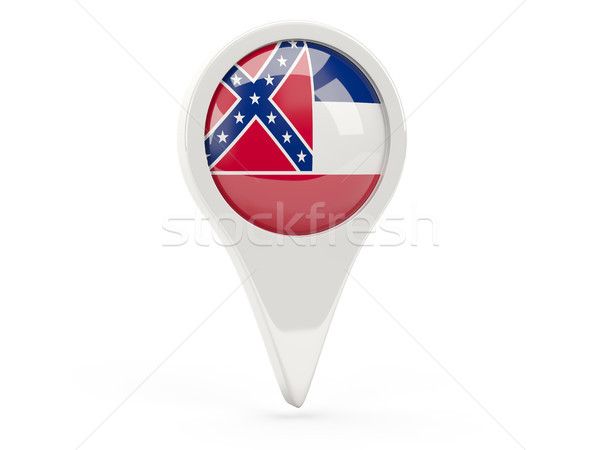 Round flag pin with flag of mississippi. United states local fla Stock photo © MikhailMishchenko