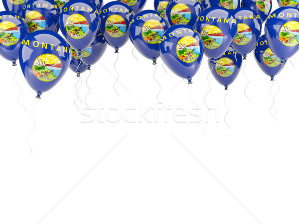 Balonlar çerçeve bayrak Montana Amerika Birleşik Devletleri yerel Stok fotoğraf © MikhailMishchenko