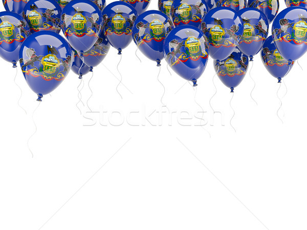Balloons frame with flag of pennsylvania. United states local fl Stock photo © MikhailMishchenko