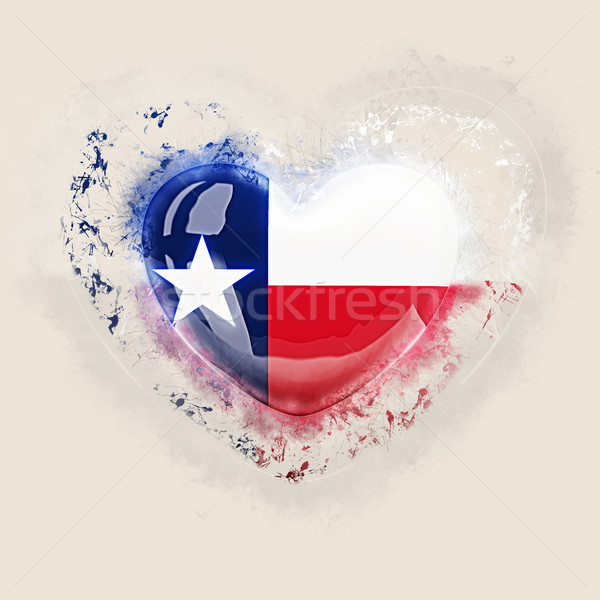 Foto stock: Texas · bandera · grunge · corazón · Estados · Unidos · local