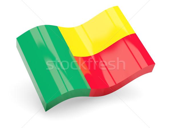 3D bandiera Benin isolato bianco viaggio Foto d'archivio © MikhailMishchenko