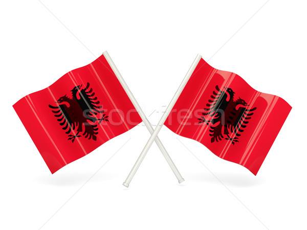 Flag of albania Stock photo © MikhailMishchenko