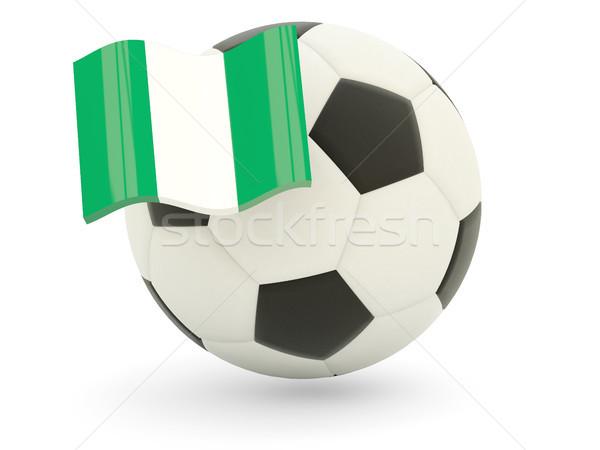 Futebol bandeira Nigéria isolado branco esportes Foto stock © MikhailMishchenko