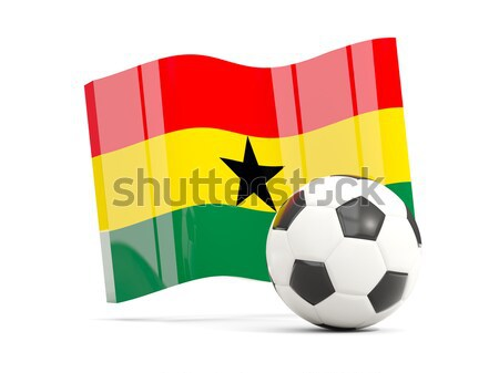Flag of burkina faso with football in front of it Stock photo © MikhailMishchenko