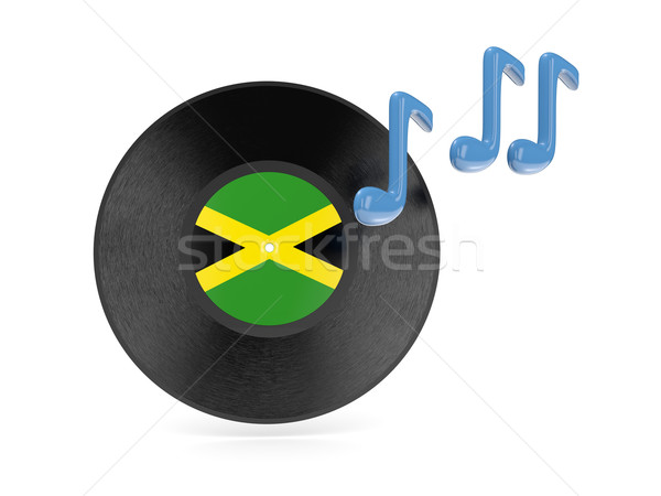 Vinyl disk with flag of jamaica Stock photo © MikhailMishchenko