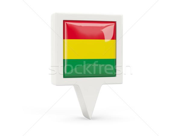 квадратный флаг икона Боливия изолированный белый Сток-фото © MikhailMishchenko