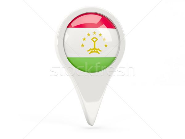 Zászló ikon Tádzsikisztán izolált fehér térkép Stock fotó © MikhailMishchenko