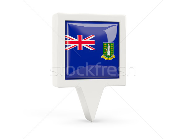 Platz Flagge Symbol britisch Virgin Islands isoliert Stock foto © MikhailMishchenko