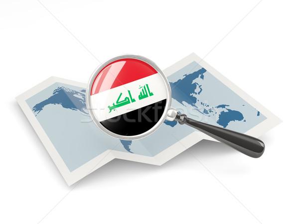 Bandeira Iraque mapa viajar Foto stock © MikhailMishchenko