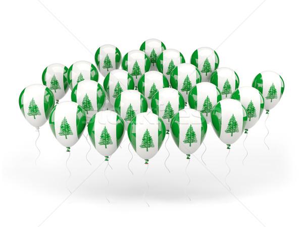 Balloons with flag of norfolk island Stock photo © MikhailMishchenko