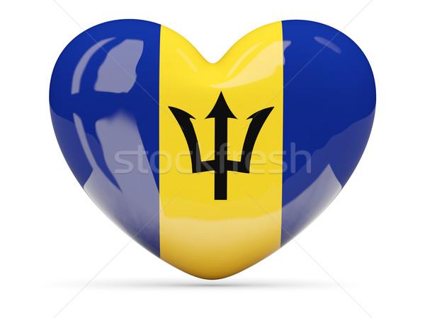 Hart icon vlag Barbados geïsoleerd Stockfoto © MikhailMishchenko
