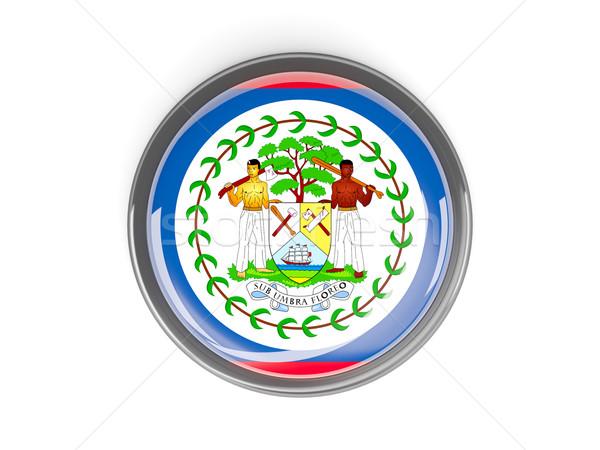 Gomb zászló Belize fém keret utazás Stock fotó © MikhailMishchenko