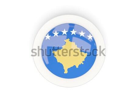 Round button with flag of kosovo Stock photo © MikhailMishchenko