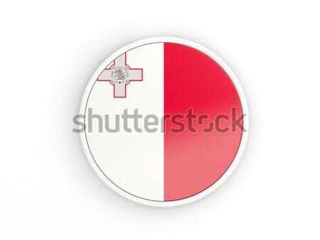 Stockfoto: Knop · vlag · Malta · metaal · frame · reizen