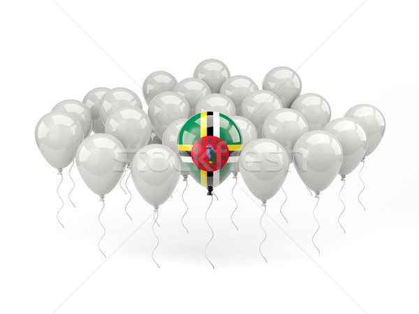 Air balloons with flag of dominica Stock photo © MikhailMishchenko