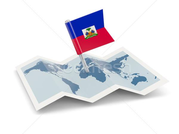 地図 フラグ ハイチ 孤立した 白 ストックフォト © MikhailMishchenko