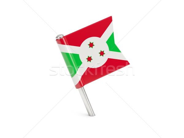 Bandeira pin Burundi isolado branco mundo Foto stock © MikhailMishchenko