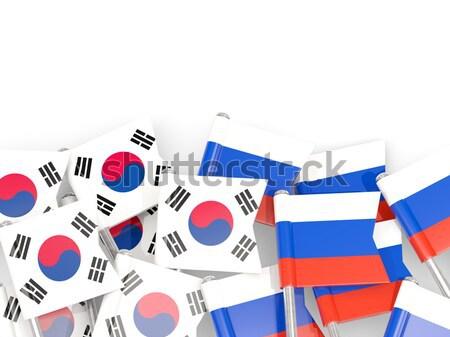 Pessoas bandeira Croácia isolado branco multidão Foto stock © MikhailMishchenko