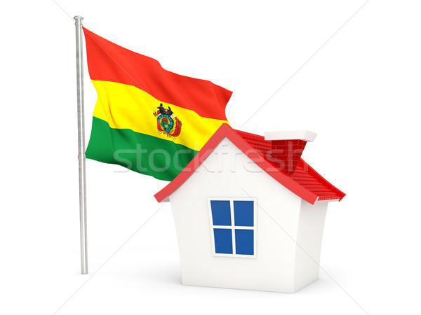 Ház zászló Bolívia izolált fehér Stock fotó © MikhailMishchenko