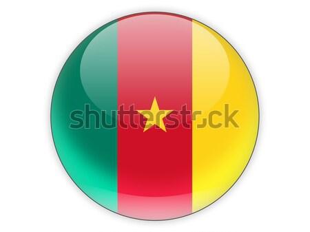Icon vlag Kameroen geïsoleerd witte reizen Stockfoto © MikhailMishchenko