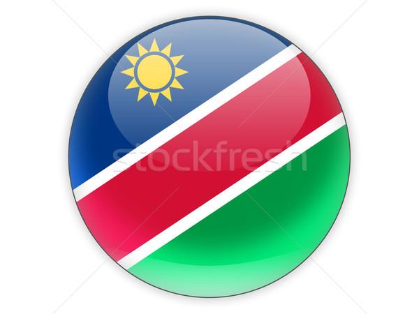 икона флаг Намибия изолированный белый путешествия Сток-фото © MikhailMishchenko