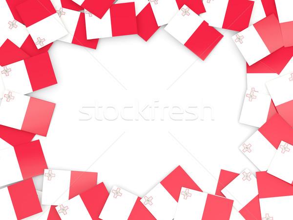 Frame vlag Malta geïsoleerd witte Stockfoto © MikhailMishchenko