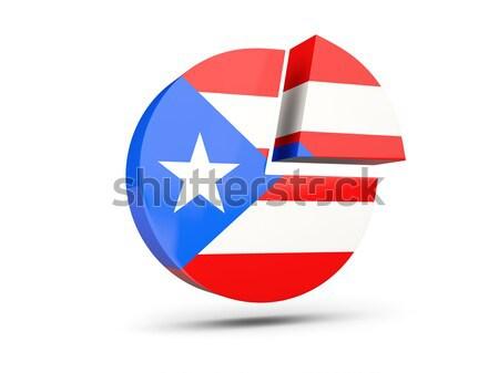 Icon vlag Puerto Rico glanzend teken witte Stockfoto © MikhailMishchenko