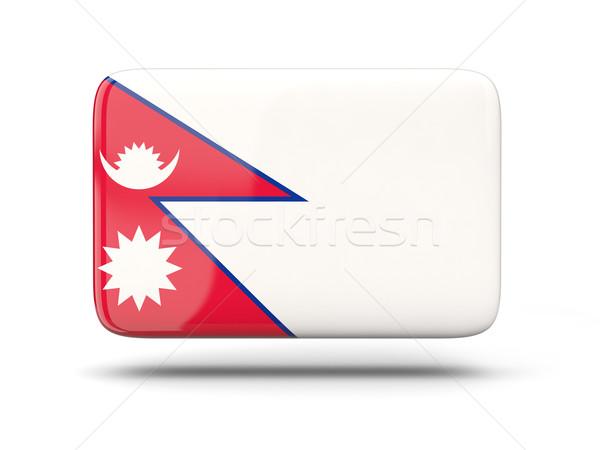 Cuadrados icono bandera Nepal sombra signo Foto stock © MikhailMishchenko