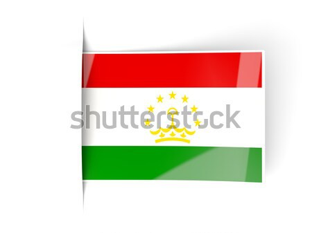 Bent icon with flag of tajikistan Stock photo © MikhailMishchenko