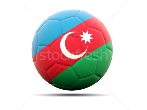 Futball zászló Azerbajdzsán 3d illusztráció futball sport Stock fotó © MikhailMishchenko