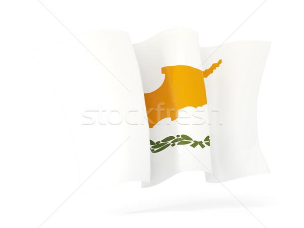 Integet zászló Ciprus 3d illusztráció izolált fehér Stock fotó © MikhailMishchenko