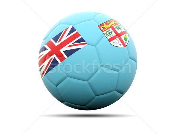 Futball zászló Fidzsi-szigetek 3d illusztráció futball sport Stock fotó © MikhailMishchenko